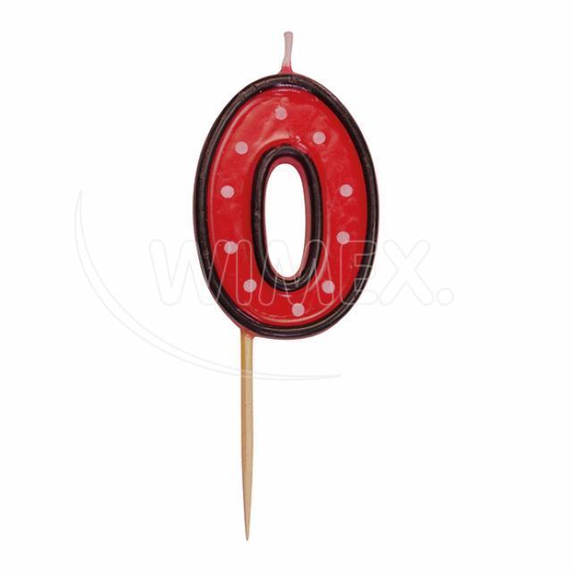 """Svíčka číslová na špejli """"0"""" 50 mm [1 ks]"""