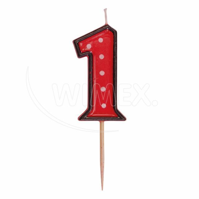 """Svíčka číslová na špejli """"1"""" 50 mm [1 ks]"""