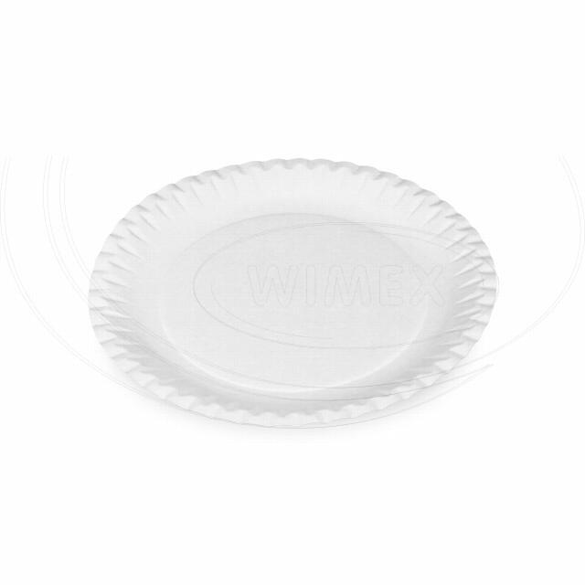 Papírový talíř mělký Ø 23 cm, nepromastitelný [100 ks]