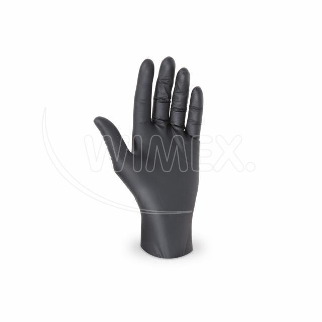 Rukavice nitrilová černá, nepudrovaná (velikost S) [100 ks]