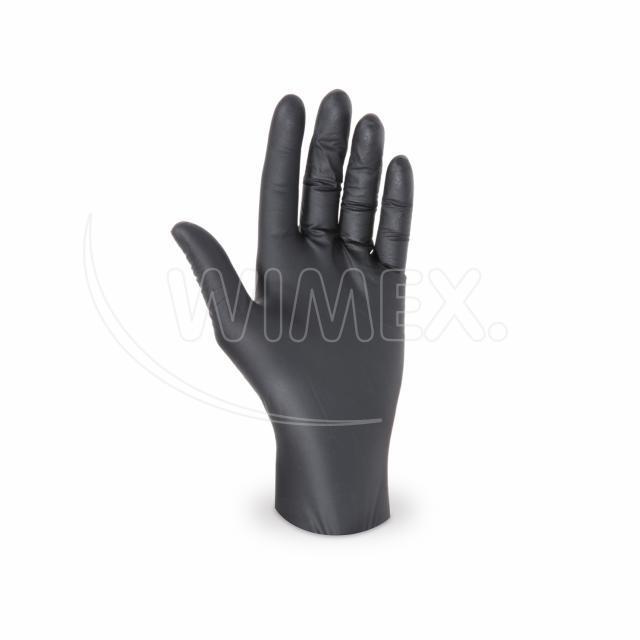 Rukavice nitrilová černá, nepudrovaná (velikost M) [100 ks]