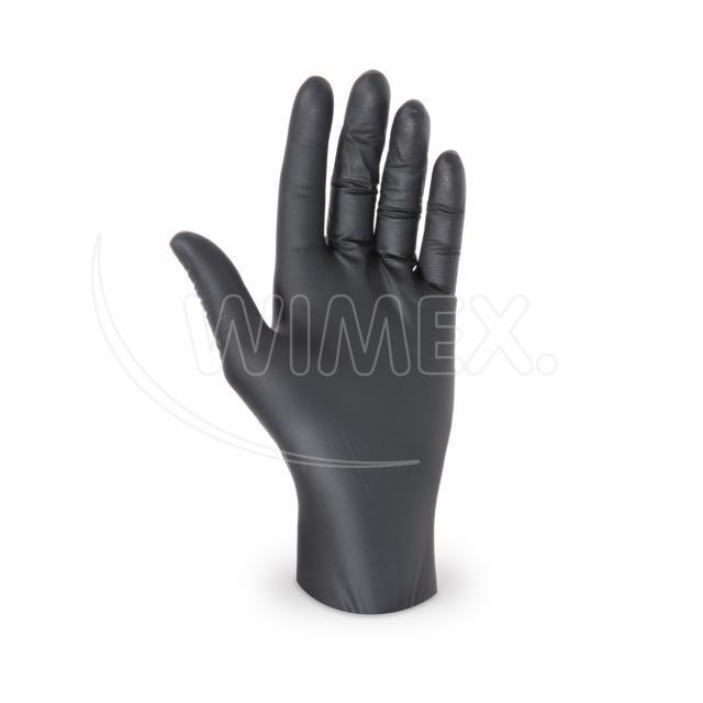 Rukavice nitrilová černá, nepudrovaná (velikost L) [100 ks]