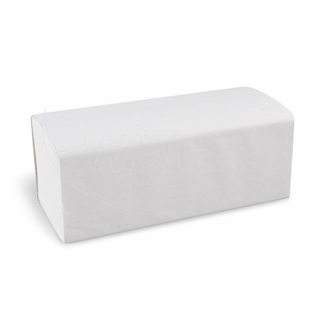 """Ručník tissue ZZ """"V"""", 2vrstvý, 25 x 21 cm, bílý [3200 ks]"""