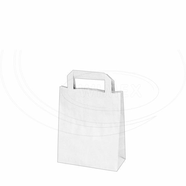 Papírová taška 18+8 x 22 cm bílá [50 ks]