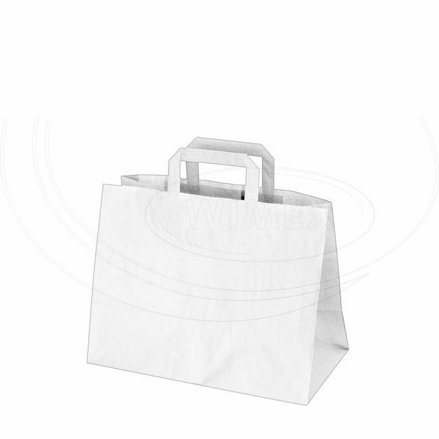 Papírová taška 32+17 x 25 cm bílá [50 ks]