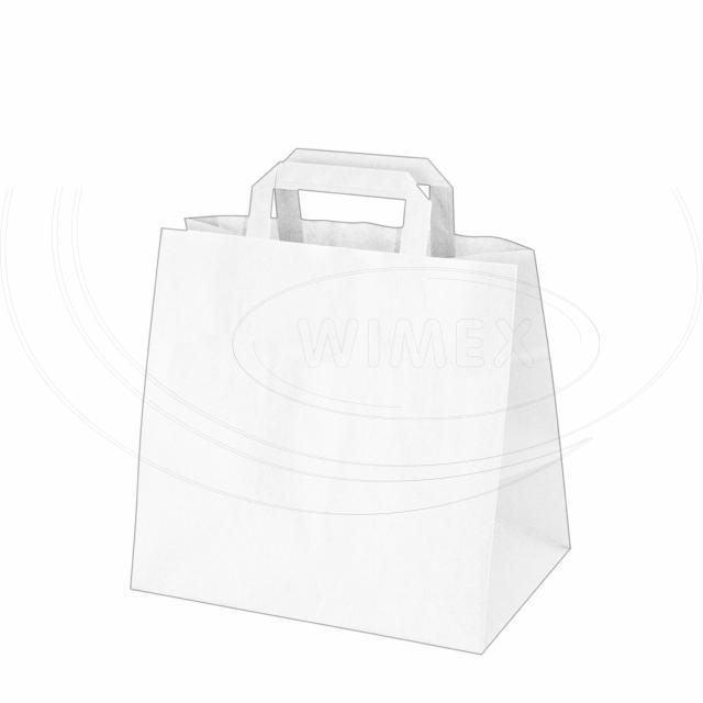 Papírová taška 32+21 x 27 cm bílá [50 ks]