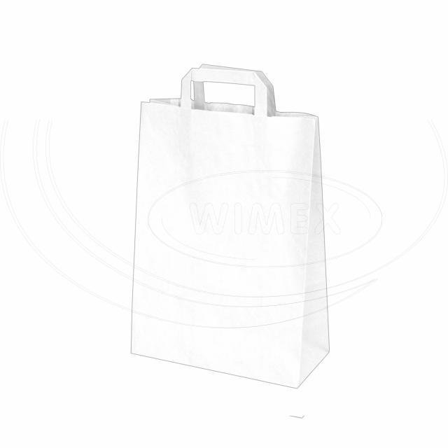 Papírová taška 22+10 x 28 cm bílá [50 ks]