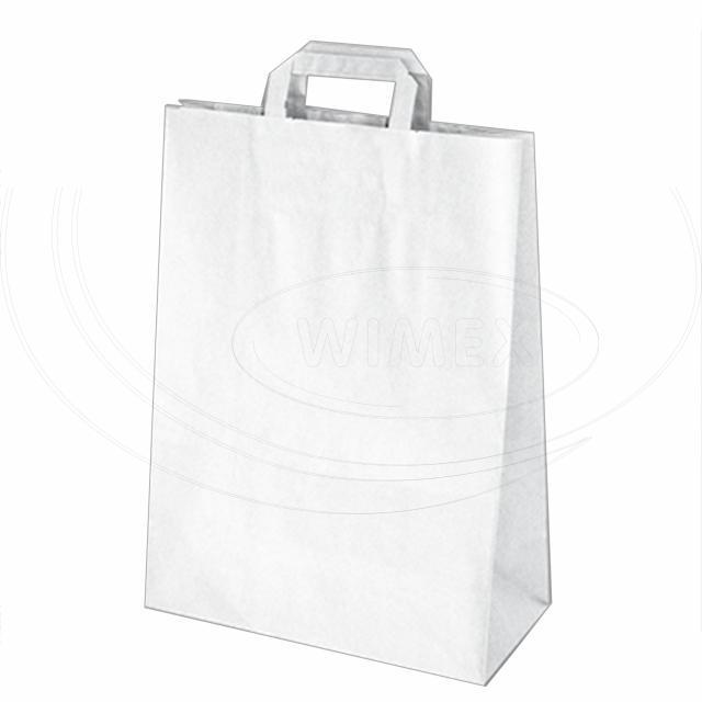 Papírová taška 32+15 x 43 cm bílá [50 ks]