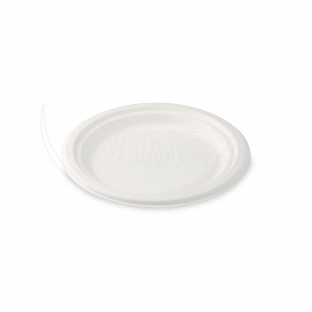 Talíř kulatý BIO cukrová třtina Ø 17,5 cm [50 ks]