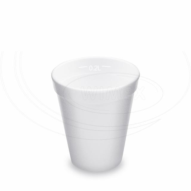 Termo-kelímek bílý z pěnového PS 0,2 l (Ø 80 mm) [25 ks]