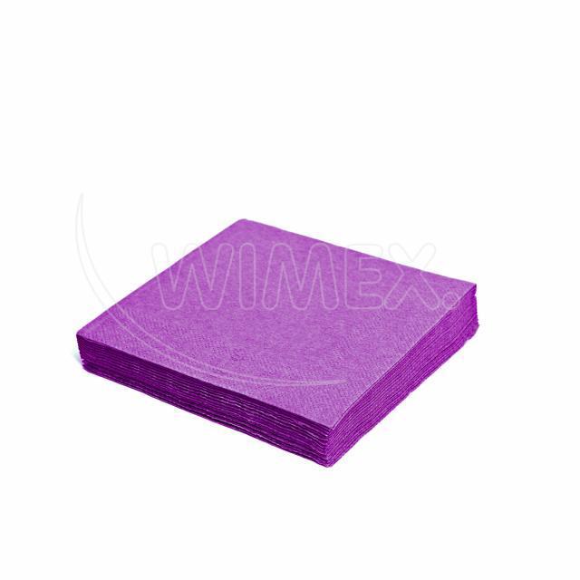 Ubrousek 3vrstvý, 33 x 33 cm světle fialový [20 ks]