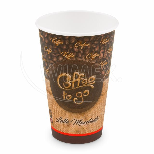 "Papírový kelímek ""Coffee to go"" 510 ml, XL (Ø 90 mm) [50 ks]"