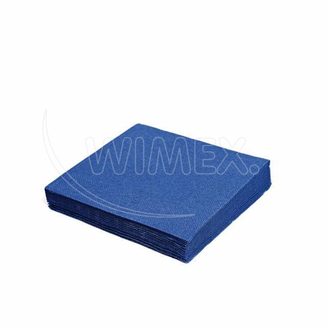 Ubrousek 3vrstvý, 33 x 33 cm tmavě modrý [20 ks]