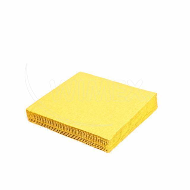 Ubrousek 3vrstvý, 33 x 33 cm žlutý [20 ks]
