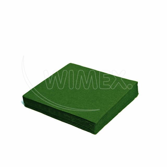 Ubrousek 3vrstvý, 33 x 33 cm tmavě zelený [20 ks]