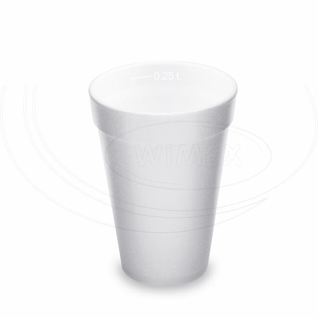 Termo-kelímek bílý z pěnového PS 0,25 l (Ø 80 mm) [20 ks]