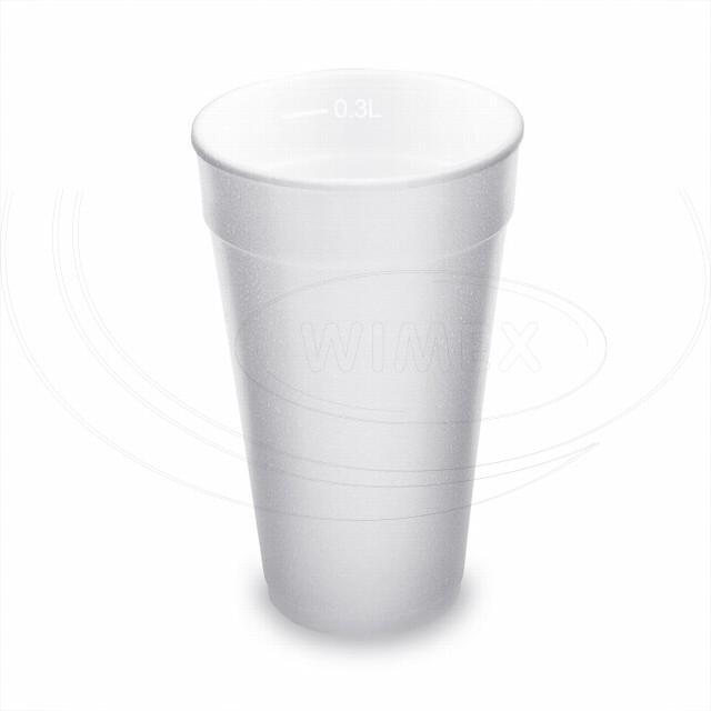 Termo-kelímek bílý z pěnového PS 0,3 l (Ø 80 mm) [20 ks]