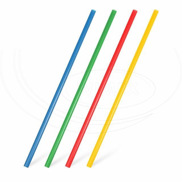 Slámka JUMBO barevný mix 25 cm, Ø 8 mm [30 ks]