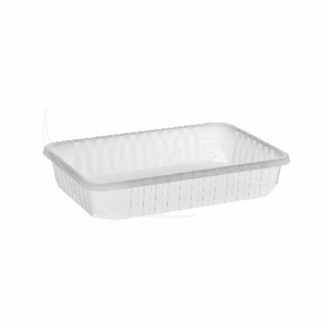 Vanička hranatá průhledná 500 ml (PP) [50 ks]