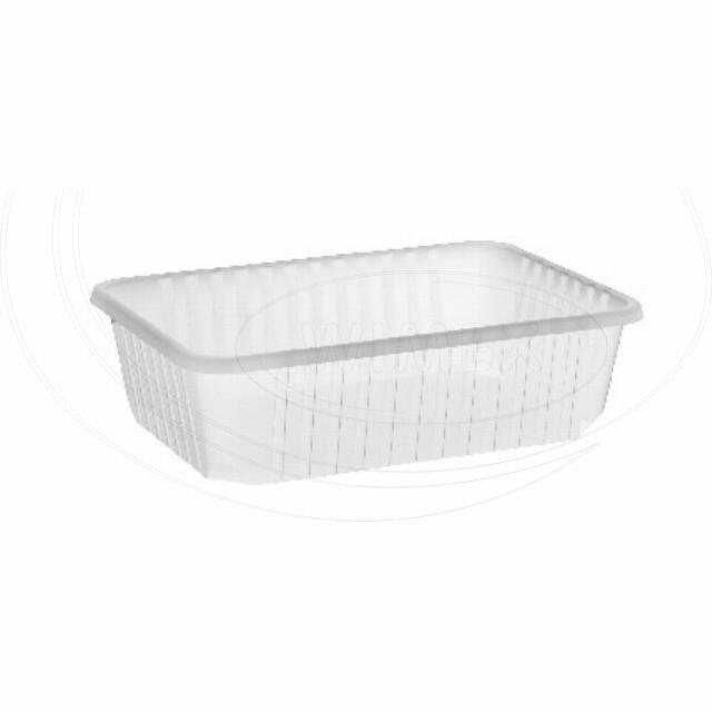 Vanička hranatá průhledná 750 ml (PP) [50 ks]