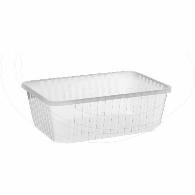 Vanička hranatá průhledná 1000 ml (PP) [50 ks]