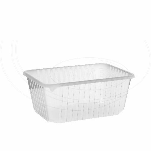 Vanička hranatá průhledná 1200 ml (PP) [50 ks]