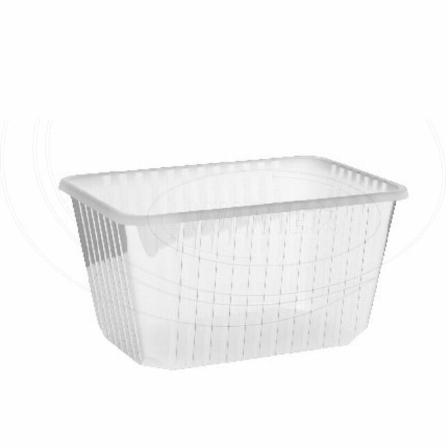 Vanička hranatá průhledná 1500 ml (PP) [50 ks]