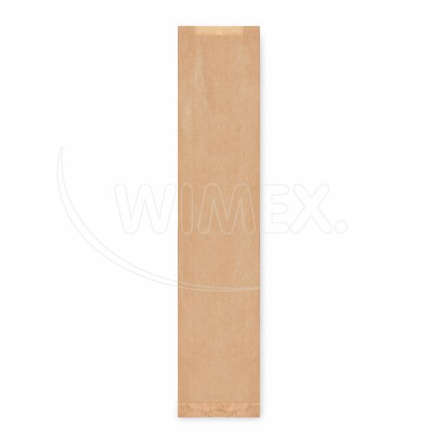 Svačinový pap. sáček hnědý - bageta (12+5 x 59 cm) [1000 ks]