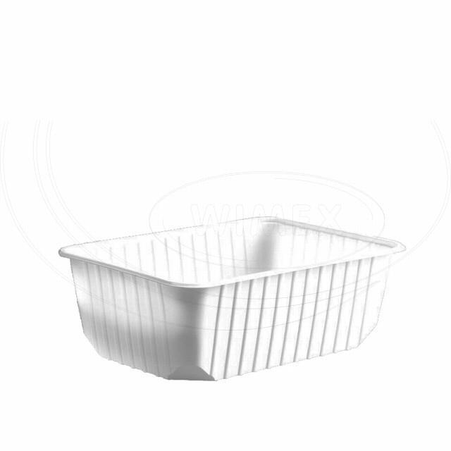 Vanička hranatá bílá 1000 ml (PP) [50 ks]