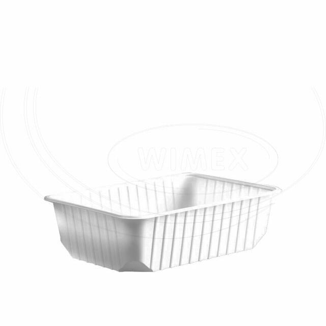 Vanička hranatá bílá 750 ml (PP) [50 ks]