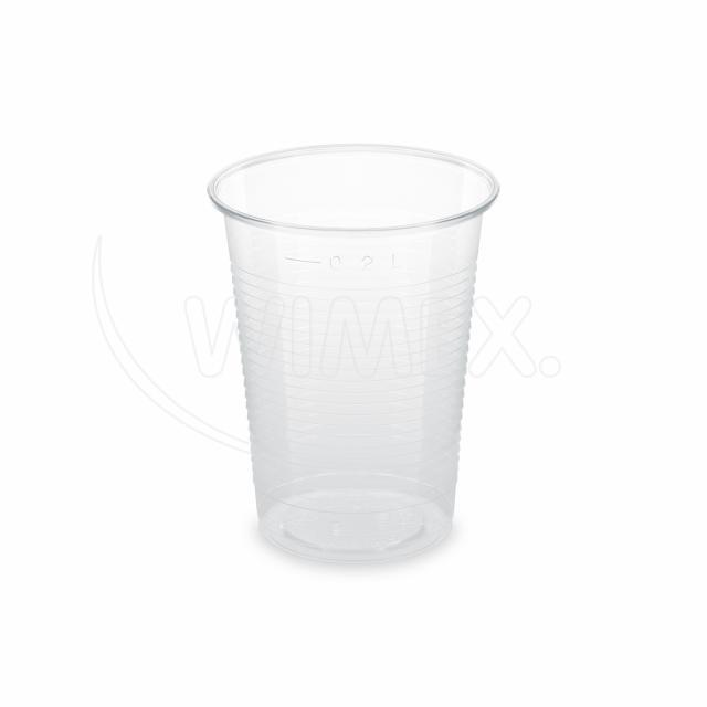 Kelímek průhledný 0,2 l (PLA) -BIO- (Ø 70 mm) [100 ks]