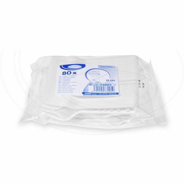 Salátová vidlička (PP) bílá 12 cm [80 ks]