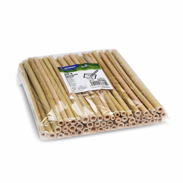Bambusové slámky 23 cm [50 ks]