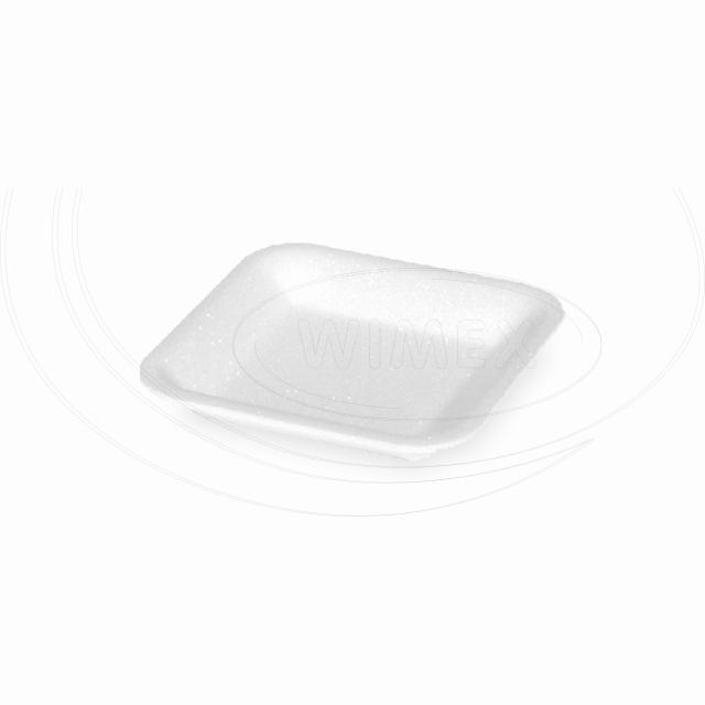 Podložní miska bílá 60, 135 x 135 x 20 mm (EPS) [3600 ks]