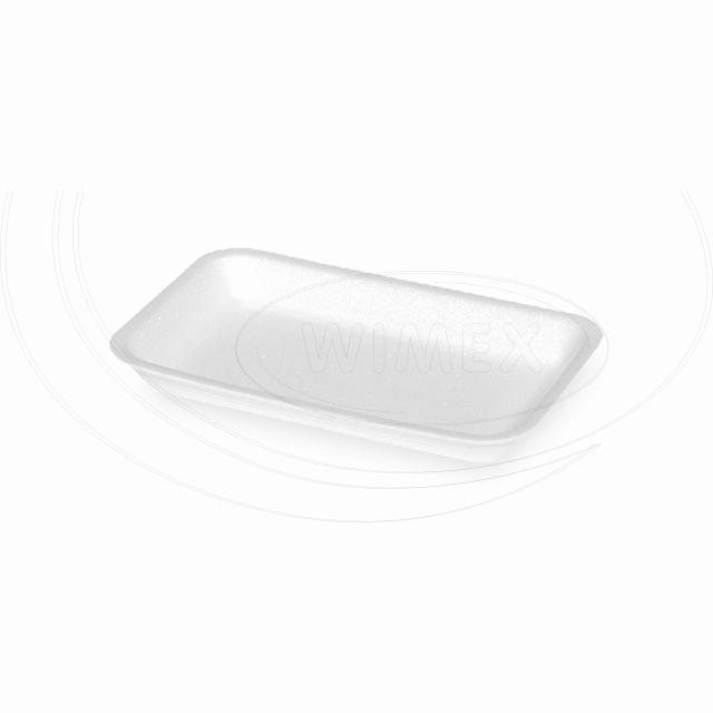 Podložní miska bílá 73, 218 x 135 x 24 mm (EPS) [1500 ks]