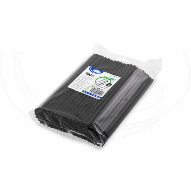 Slámka JUMBO černá (PLA) -BIO- 20 cm, Ø 8 mm [150 ks]