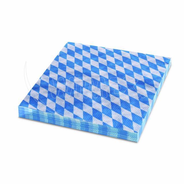 Ubrousky 1-vrstvé, 33 x 33 cm BAVORSKO modré [100 ks]
