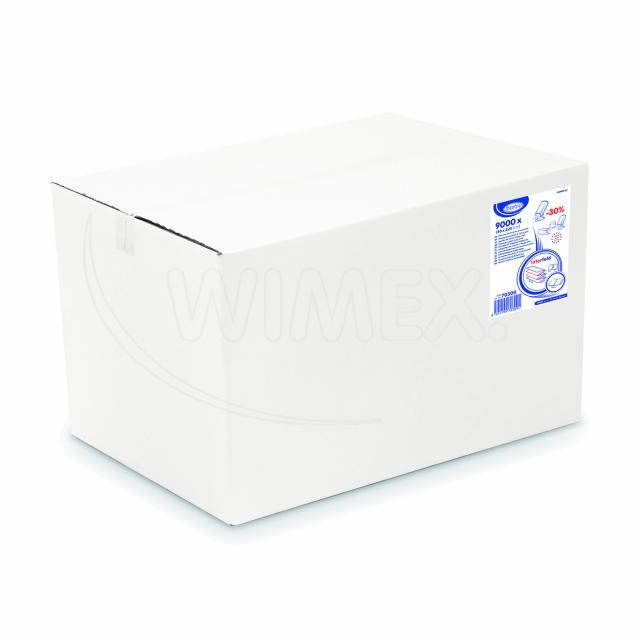 Ubrousky do zásobníku 2-vrstvé, 21 x 16,5 cm bílé [9000 ks]