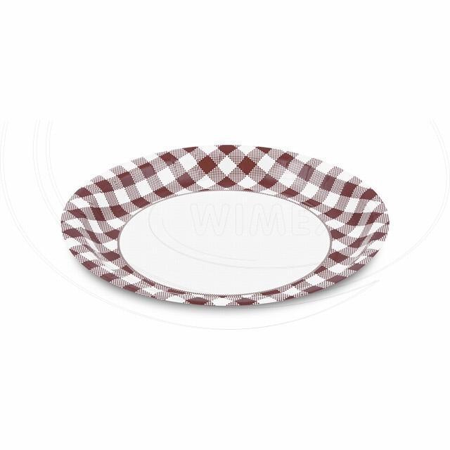 Papírový talíř Ø 23 cm KARO [50 ks]