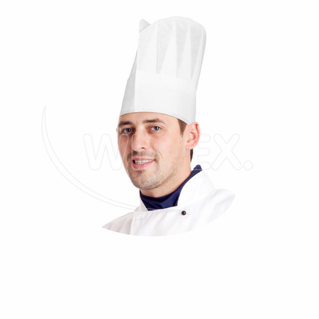 Kuchařská čepice papírová, bílá 23 cm [10 ks]