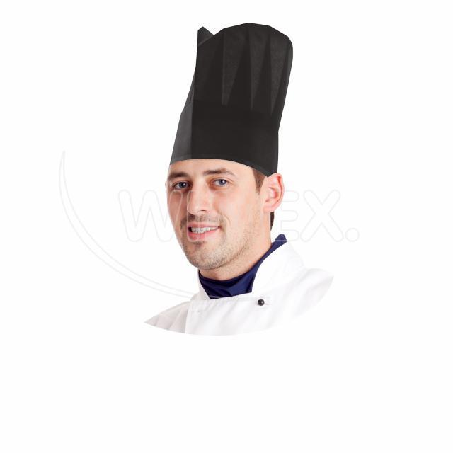 Kuchařská čepice papírová, černá 23 cm [10 ks]