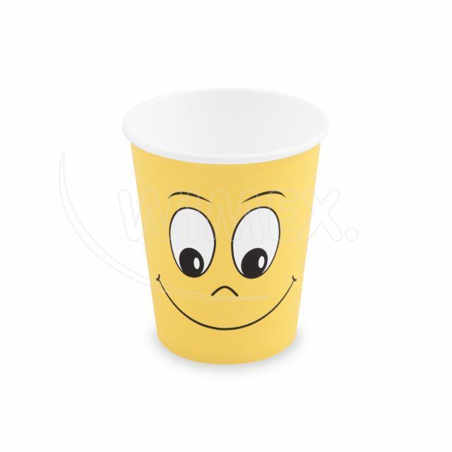 Papírový kelímek SMILING FACE 280 ml, M (Ø 80 mm) [10 ks]