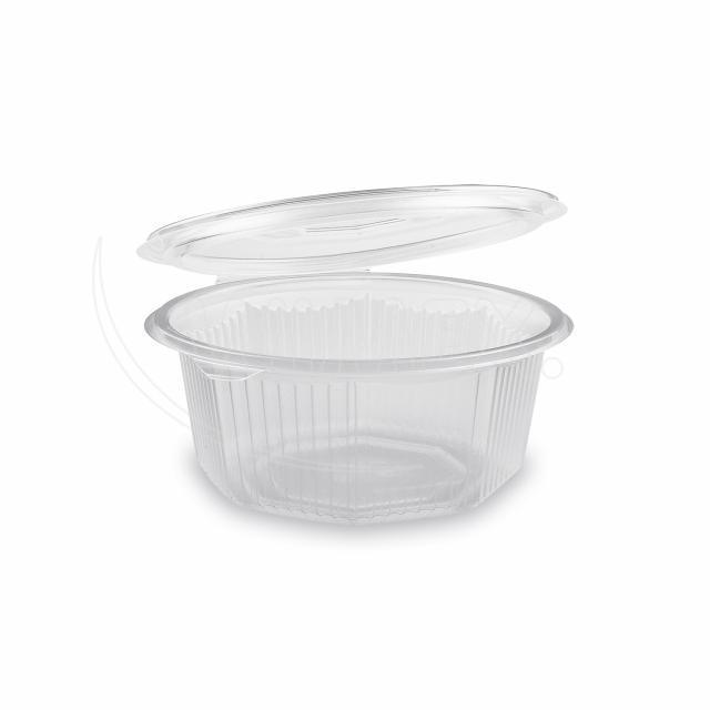 Miska osmiboká průhledná s víčkem 750 ml (PP) [50 ks]