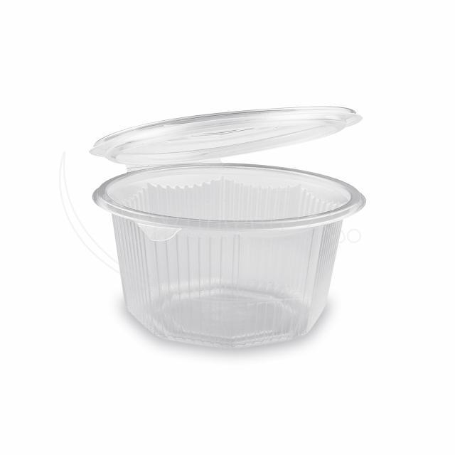 Miska osmiboká průhledná s víčkem 1000 ml (PP) [50 ks]