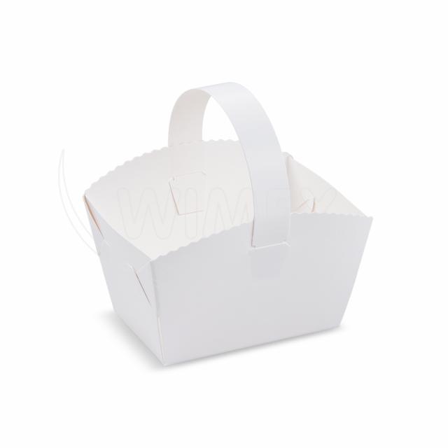 Svatební košíček s ouškem 10 x 8 x 6 cm [50 ks]