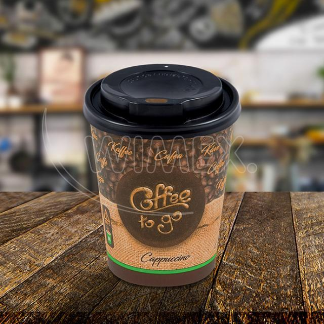 "Pap. kelímek ""Coffee to go"" 280 ml, + víčko (Ø 80 mm) [10 ks]"