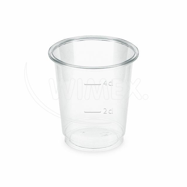 Kelímek čirý (PLA) -BIO- 2 cl / 4 cl (Ø 48 mm) [40 ks]