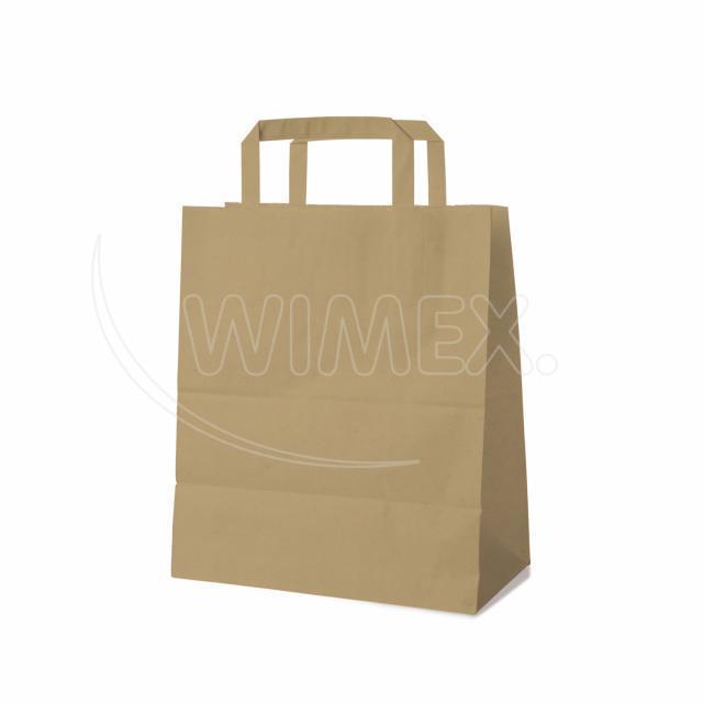 Papírová taška 22+10 x 28 cm hnědá [250 ks]