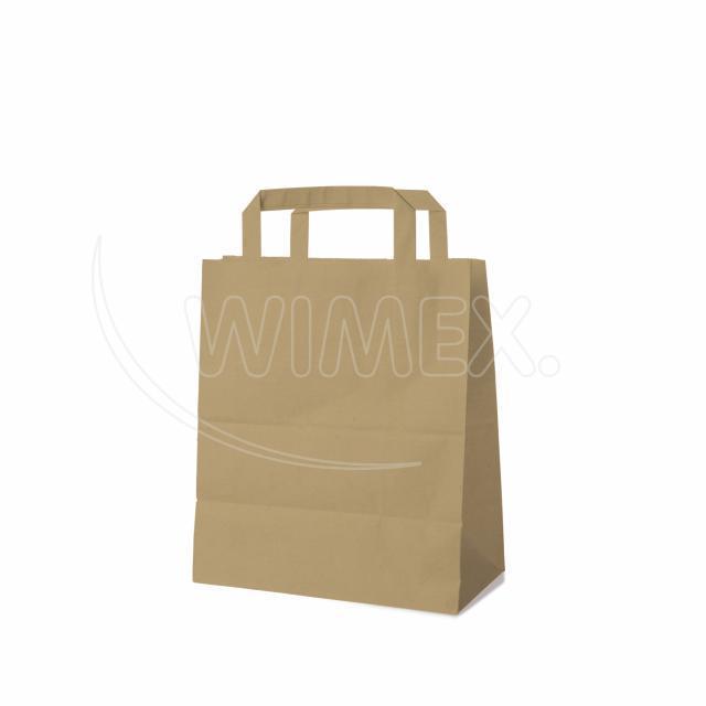 Papírová taška 18+8 x 22 cm hnědá [250 ks]