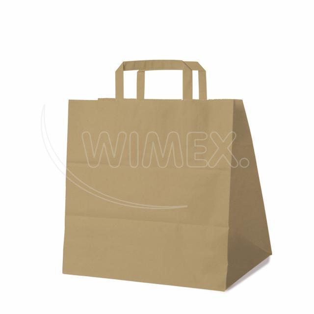Papírová taška 32+21 x 33 cm hnědá [250 ks]